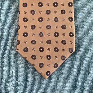 Silk beige/grey tie